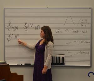 New choir director, Ms. Lauren Morrssey. Photo by Emma Eaton
