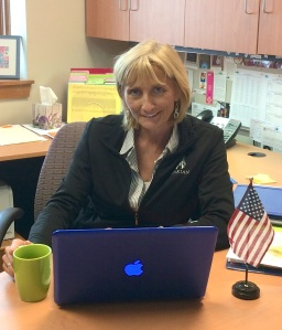 Ms. Kathy Janata, Mama J, in her counselor office in Student Services. Photo by Ana Mantini