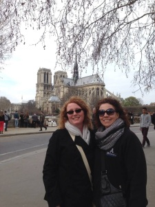 Mrs. Janet Tuttle and Mrs. Sharon Genoways on a school trip. Photo courtesy of Mrs. Tuttle