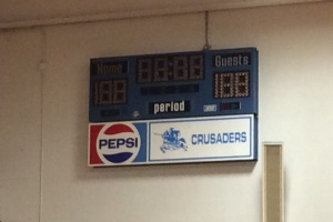 Original Scoreboard. Photo by Maddie Mingo.