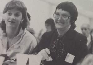 Mothers and daughters bond at a Marian Moms event. Photo source 1983 Yearbook.