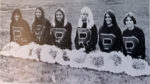 Marian Yearbook 1972, Marian girls cheered for Rummel High School